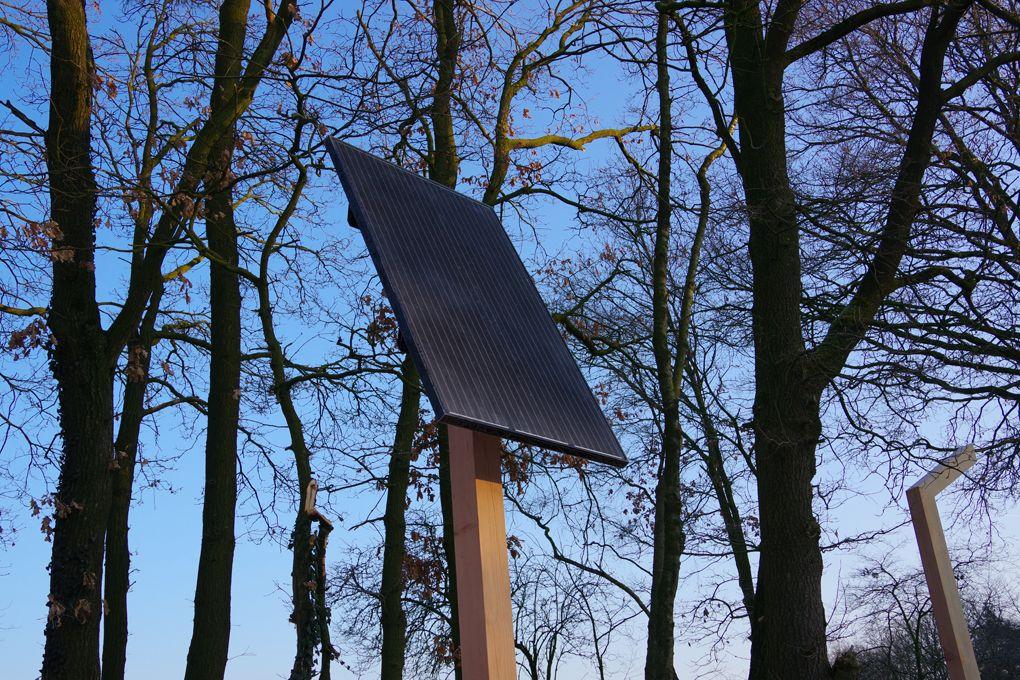 Buitenverlichting zonnepaneel