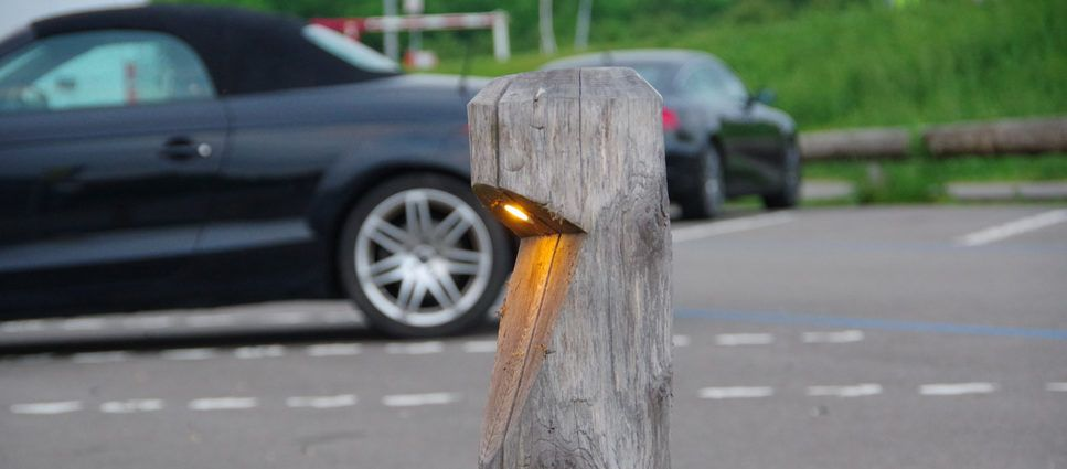 parkeerplaats lichtpaal