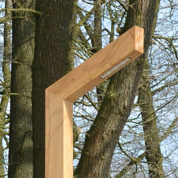 houten buitenlamp