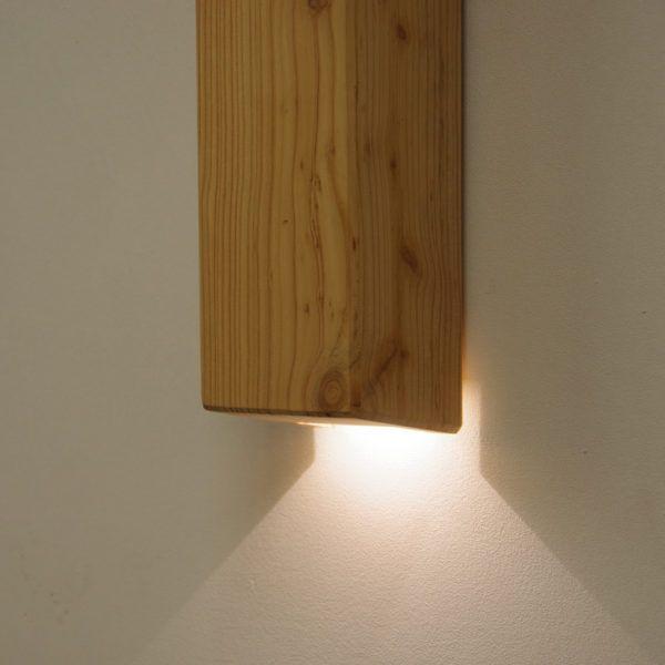 houten wandverlichting